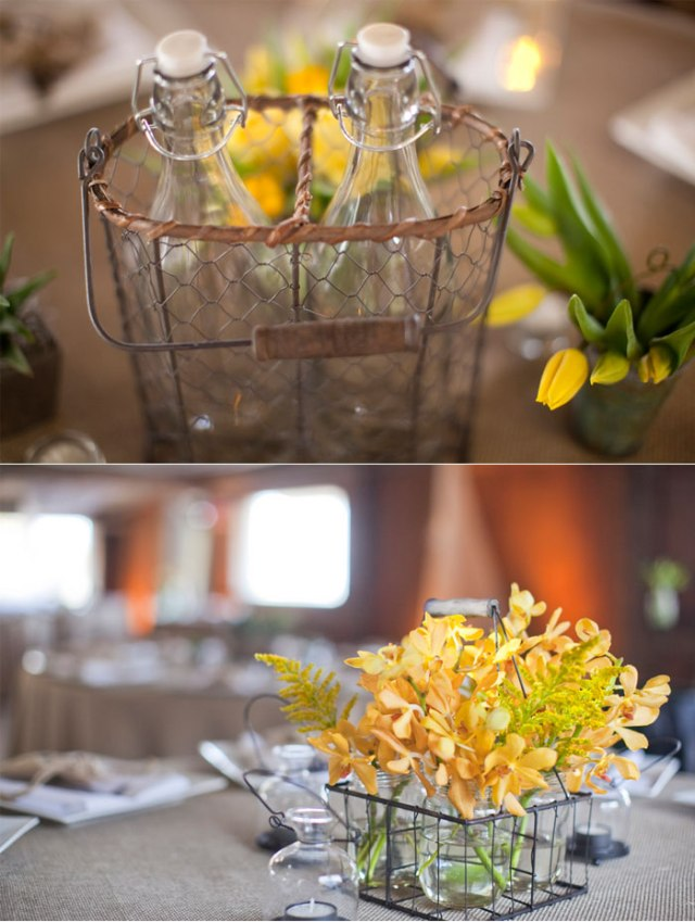 decoración boda amarillo colores estilo rústico (7)