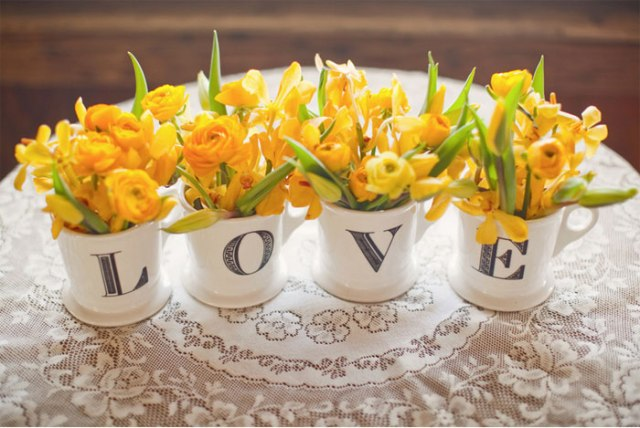 decoración boda amarillo colores estilo rústico (8)