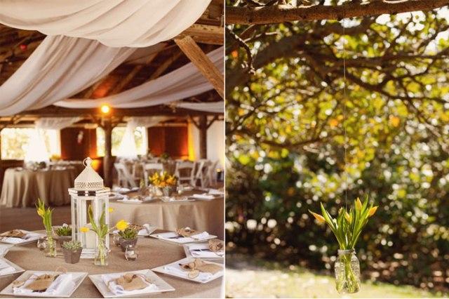 decoración boda amarillo colores estilo rústico (9)