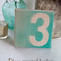 Tutorial: Números de mesa de arpillera para tu boda