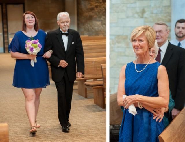 padre con cancer llevando a las hijas al altar boda (6)