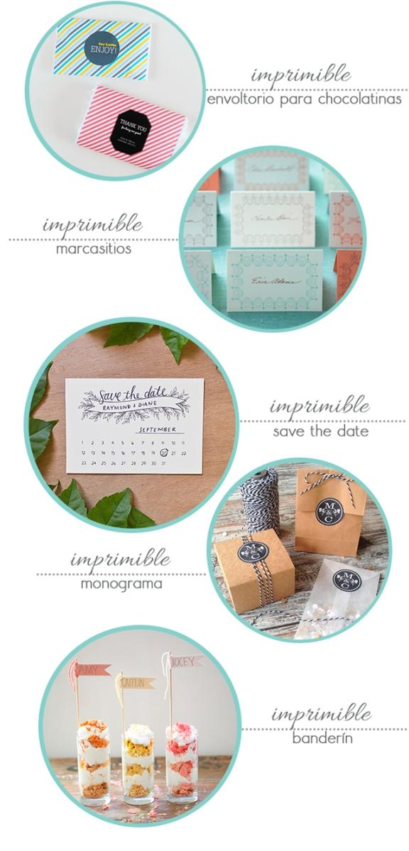 5 imprimibles para tu boda