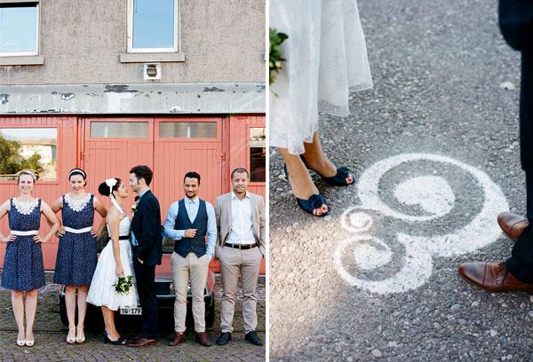 fotos boda analogicas boda azul y blanco novia vestido corto (11)