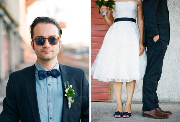 fotos boda analogicas boda azul y blanco novia vestido corto (13)