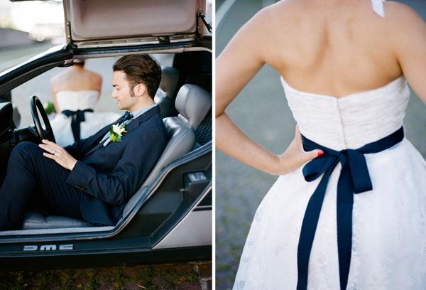 fotos boda analogicas boda azul y blanco novia vestido corto (16)
