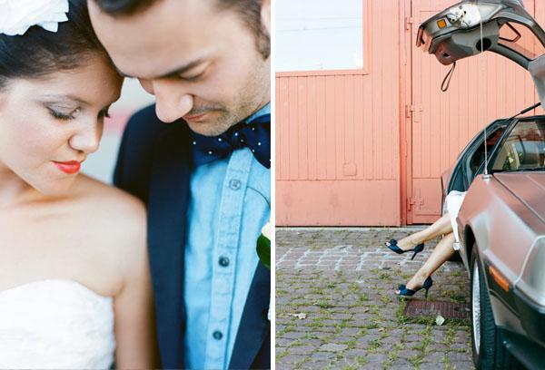 fotos boda analogicas boda azul y blanco novia vestido corto (8)