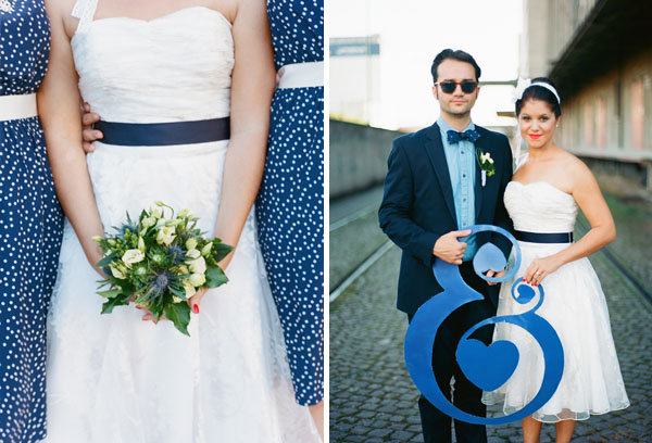fotos boda analogicas boda azul y blanco novia vestido corto (9)