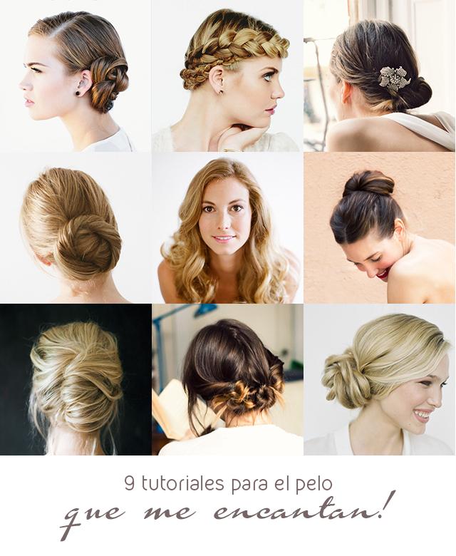 9 tutoriales para el pelo peinado novias invitada boda moño