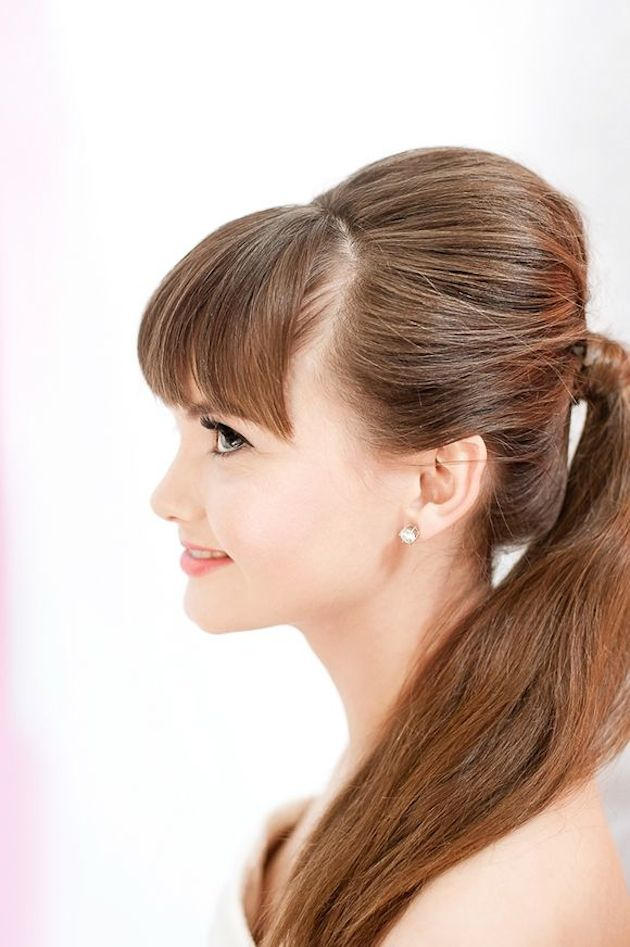 10 Peinados De Novia O Invitada Con Flequillo Weddbook - Peinados-para-el-flequillo
