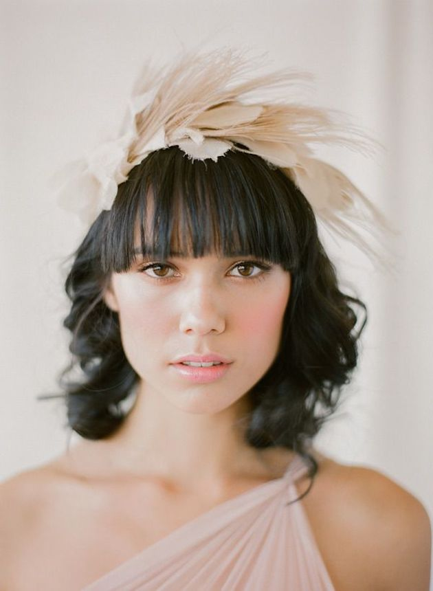 10 Peinados De Novia O Invitada Con Flequillo
